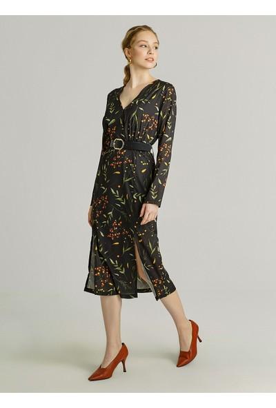 Ngstyle Kadın Çıtır Çiçek Desenli Elbise