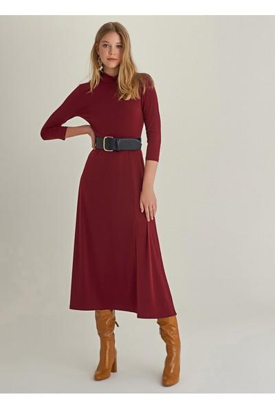Ngstyle Kadın Yırtmaçlı Uzun Örme Elbise