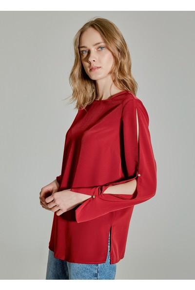 People By Fabrika Kadın Kol Detaylı Bluz