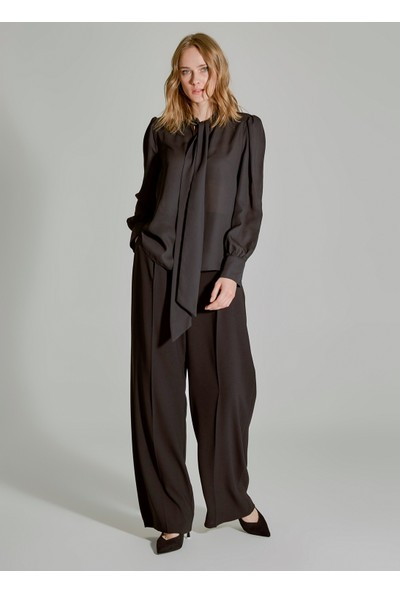 People By Fabrika Kadın Bağlama Detaylı Bluz