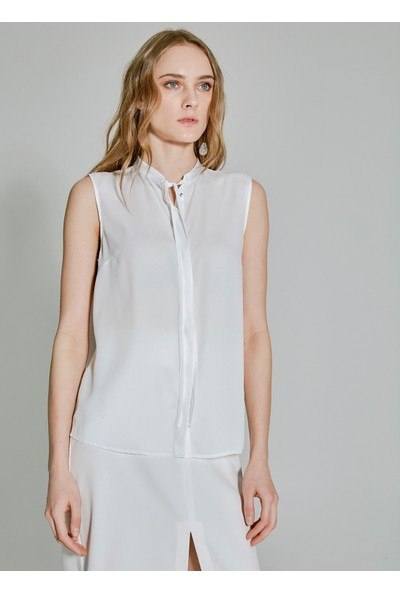 People By Fabrika Kadın Bağlama Detaylı Kolsuz Bluz