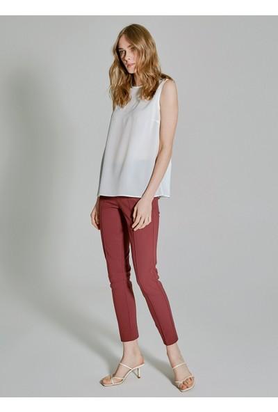 People By Fabrika Kadın Tül Detaylı Bluz