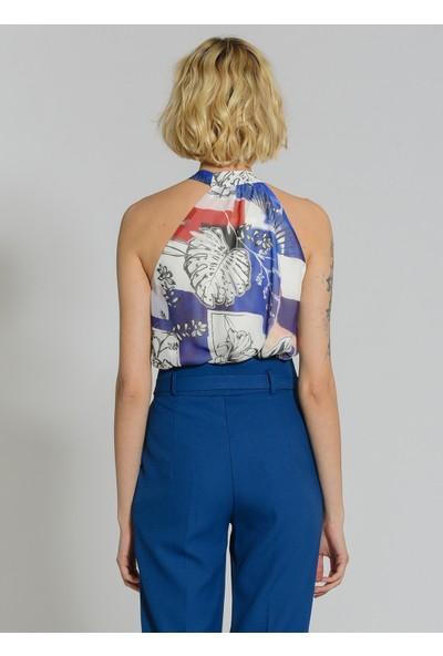 People By Fabrika Kadın Bağlamalı Kolsuz Bluz