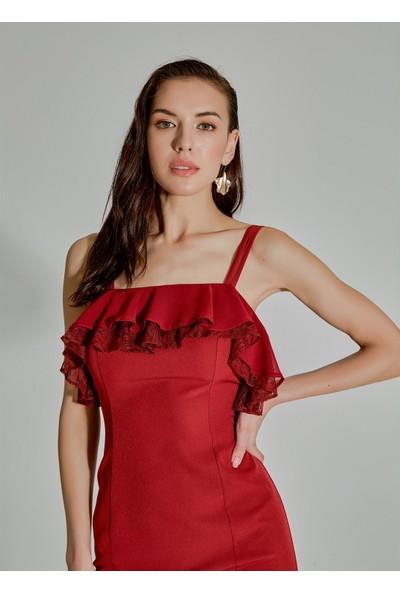 People By Fabrika Kadın Ip Askılı Uzun Abiye Elbise