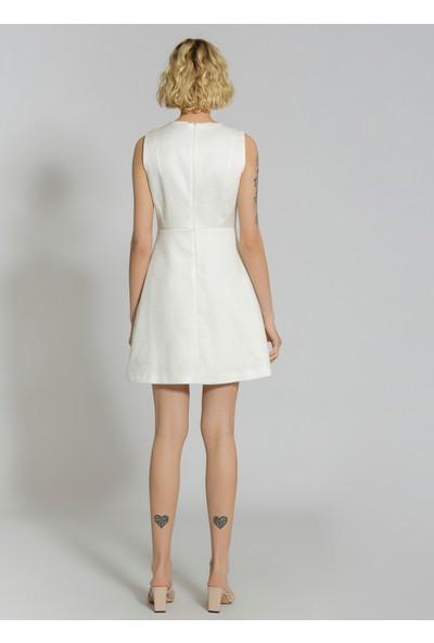 People By Fabrika Kadın Jakarlı Abiye Elbise