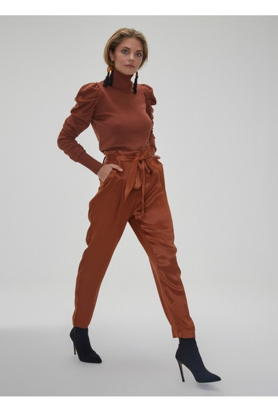 People By Fabrika Kadın Saten Pantolon