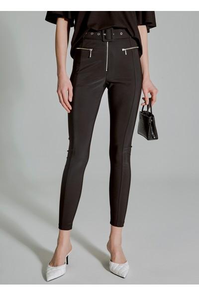 People By Fabrika Kadın Kemerli Pantolon