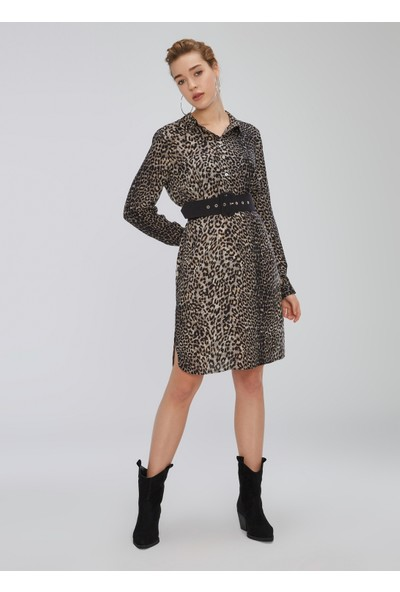 People By Fabrika Kadın Bol Kesim Desenli Elbise