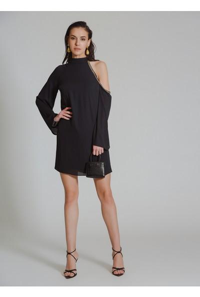 People By Fabrika Kadın Zincir Detaylı Elbise
