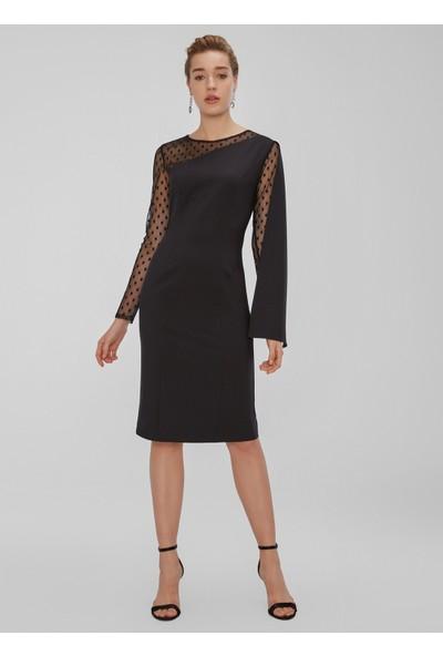 People By Fabrika Kadın Pelerin Ve Tül Detaylı Elbise