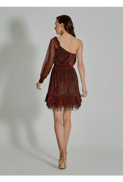 People By Fabrika Kadın Tek Omuz Elbise