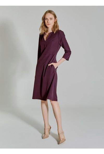 People By Fabrika Kadın Kesik Detaylı Elbise