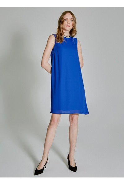 People By Fabrika Kadın Yakası Detaylı Kolsuz Elbise