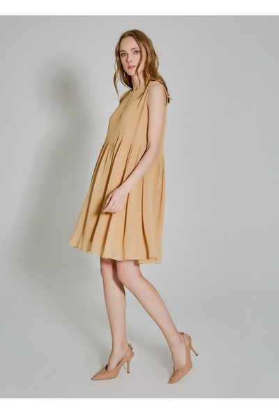 People By Fabrika Kadın Piliseli Elbise