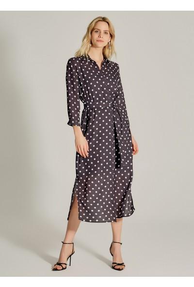 Ngstyle Kadın Puantiyeli Gömlek Elbise