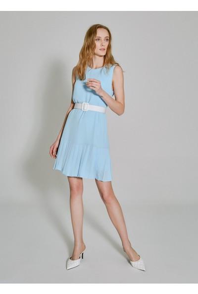 People By Fabrika Kadın Piliseli Kolsuz Elbise