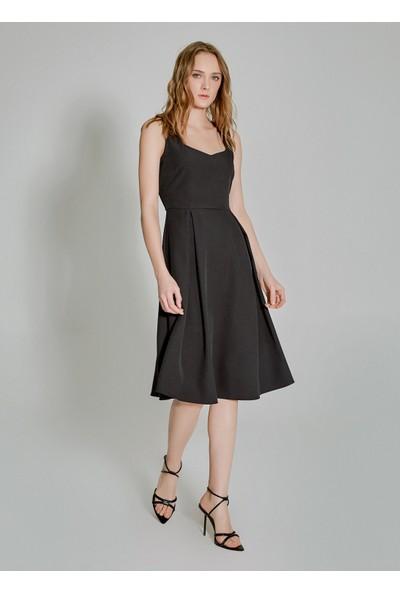 People By Fabrika Kadın Pilikaşe Detaylı Elbise