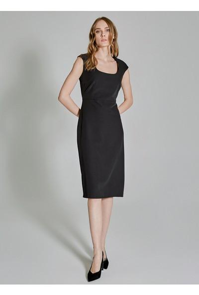 People By Fabrika Kadın Yaka Detaylı Elbise