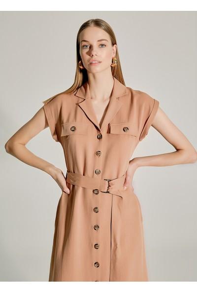 Ngstyle Kadın Lyosel Gömlek Elbise