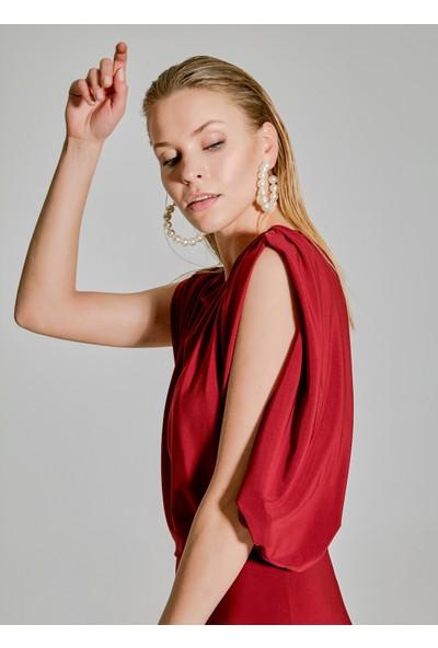 People By Fabrika Kadın Kol Detaylı Elbise