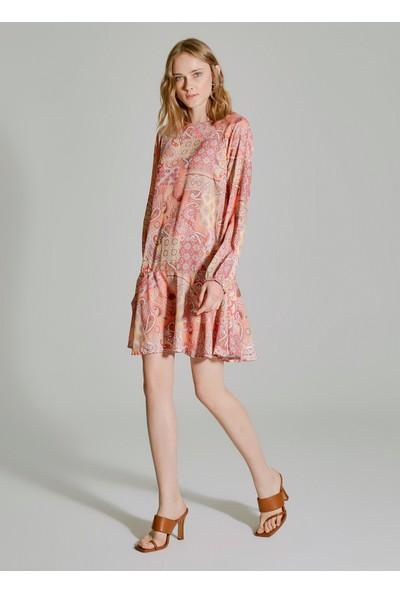 People By Fabrika Kadın Desenli Elbise