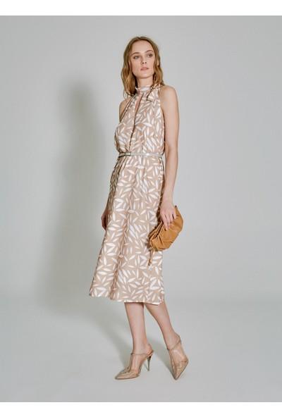 People By Fabrika Kadın Bağlama Detaylı Elbise