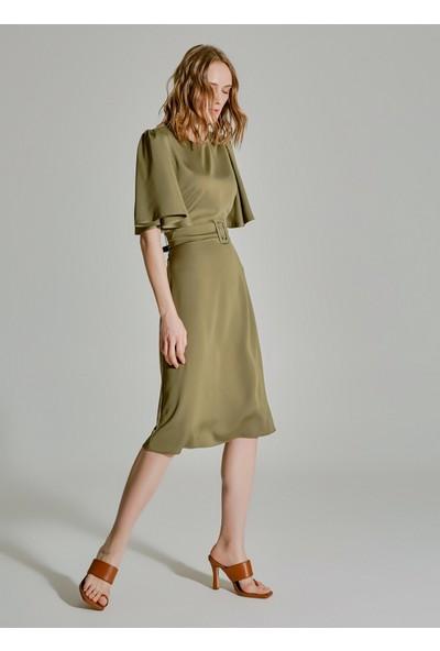 People By Fabrika Kadın Melek Kol Kemerli Elbise