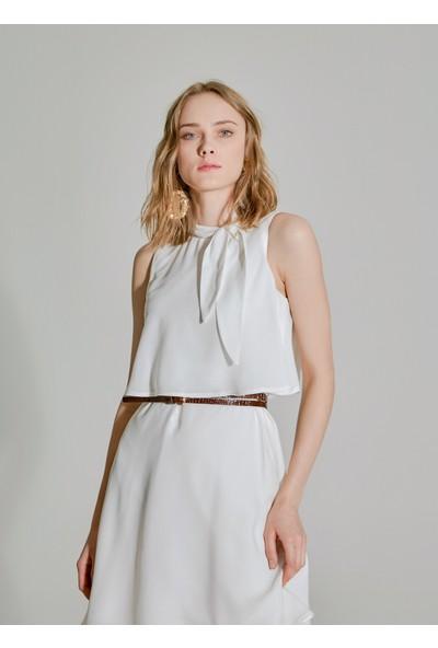 People By Fabrika Kadın Bağlamalı Elbise