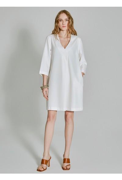 People By Fabrika Kadın Cepli Basic Elbise