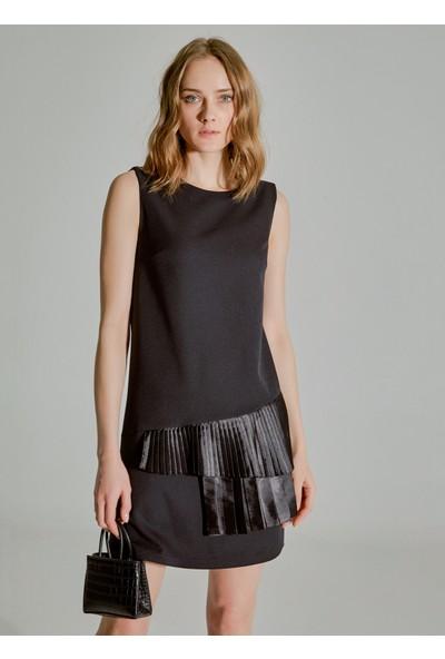 People By Fabrika Kadın Pilise Detaylı Elbise