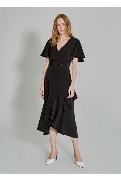 People By Fabrika Kadın Volanlı Kemerli Elbise