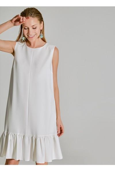 People By Fabrika Kadın Volanlı Elbise