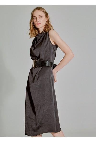 People By Fabrika Kadın Degaje Yaka Elbise