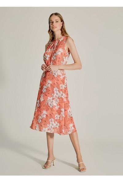 Ngstyle Kadın Çiçek Desenli Midi Elbise