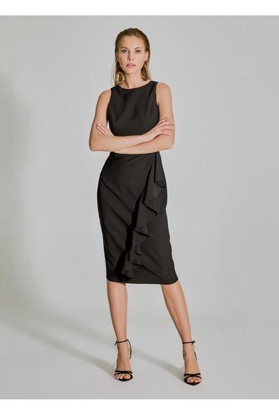 People By Fabrika Kadın Volan Detaylı Elbise