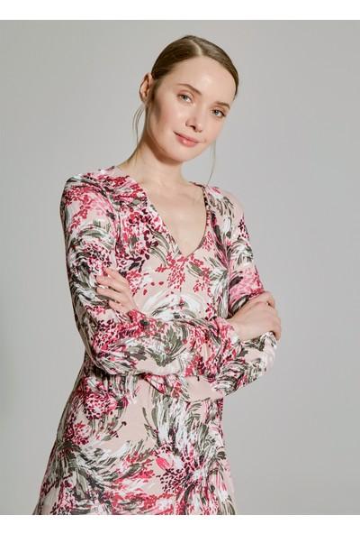 People By Fabrika Kadın Çiçek Desenli Elbise