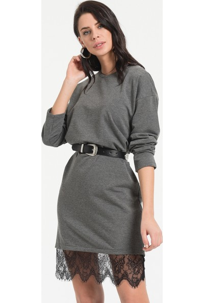 Styletag Kadın Etekleri Dantel Detaylı Elbise