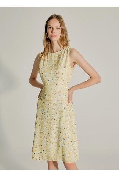 Ngstyle Kadın Çiçek Desenli Mini Elbise