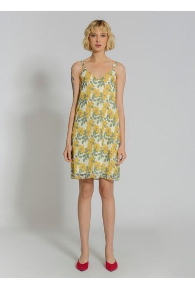 People By Fabrika Kadın Desenli Askılı Elbise