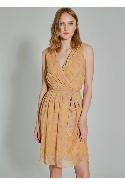People By Fabrika Kadın Desenli Kruvaze Elbise