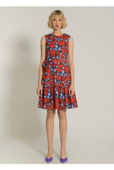 Ngstyle Kadın Fiyonk Detaylı Çiçekli Elbise