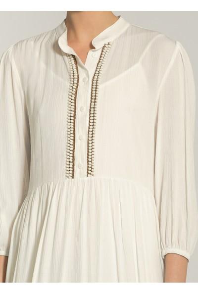 Ngstyle Kadın Yaka Detaylı Maxi Elbise