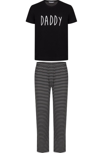 Penti Siyah Famıly Erkek Dark Ss Pijama Takımı