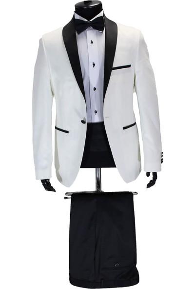 Mentor Regalo Erkek Takım Beyaz Damatlık Slim Fit 41023