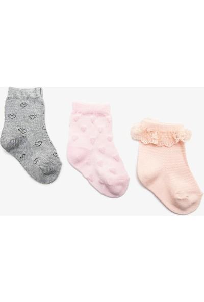 Koton Kız Çocuk 3'lü Çorap