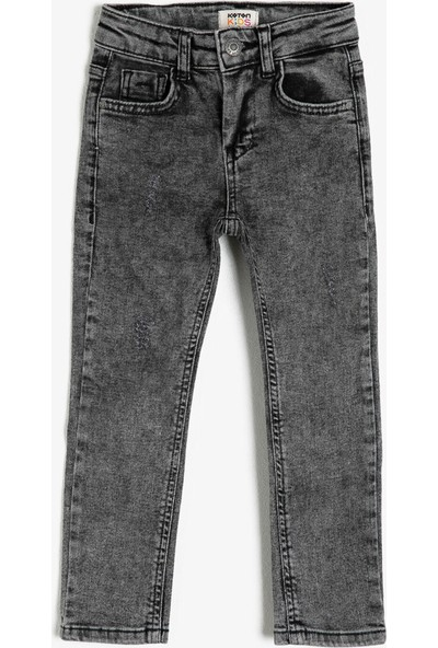 Koton Erkek Çocuk Cep Detaylı Dar Kesim Jean Pantolon