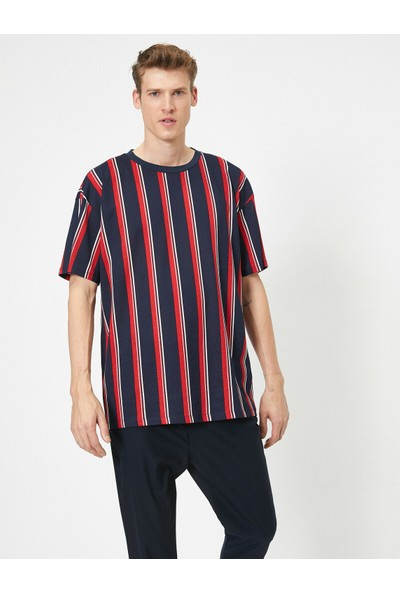 Koton Erkek Çizgili T-Shirt