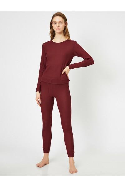 Koton Kadın Dar Kesim Pijama Alti
