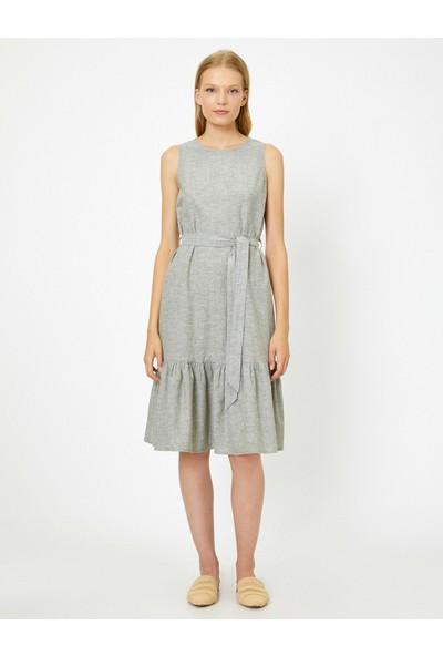 Koton Kadın Firfir Detaylı Elbise