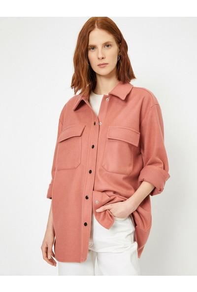 Koton Kadın Genis Kesimli Cepli Ceket